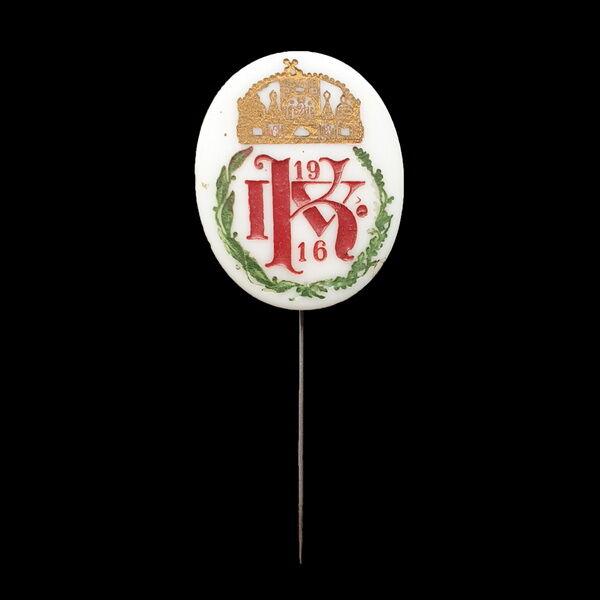 IV. Károly porcelán jelvény 1916