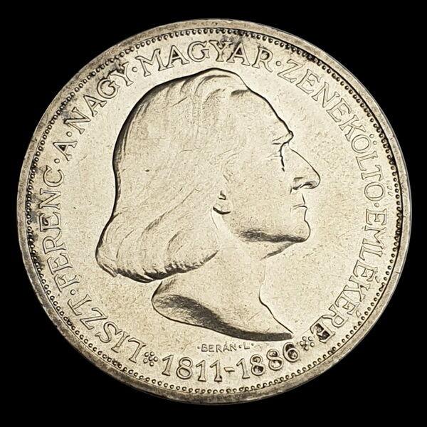 Ezüst 2 Pengő 1936 Liszt Ferenc képével