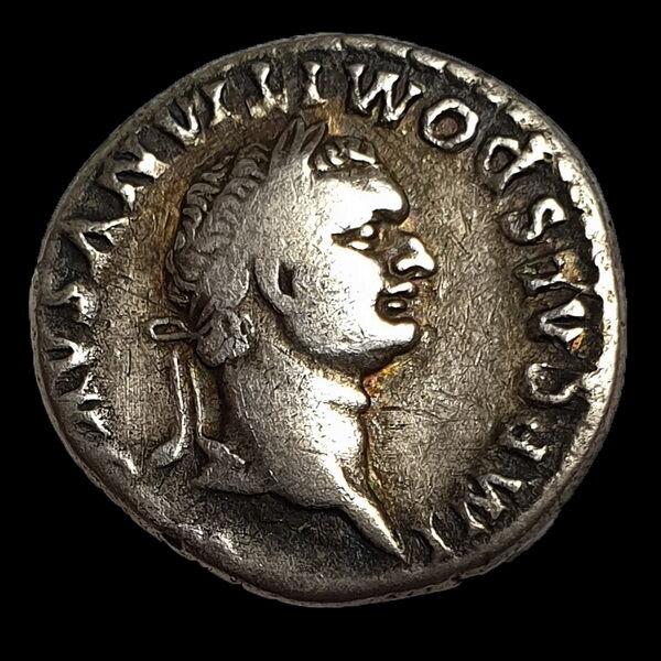 Domitianus római császár ezüst denár