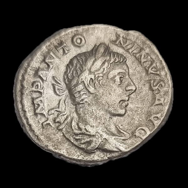 Elagabalus római császár (Kr.u. 218-222) ezüst denár - TEMPORVM FELICITAS