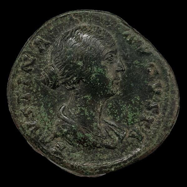 Faustina császárné bronz sestertius