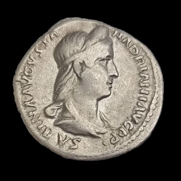 Sabina római császárné (Kr.u. 117-137) ezüst denár - PVDICITIA