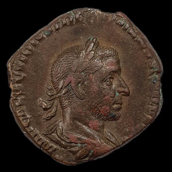 Trebonianus Gallus római császár bronz sestertius