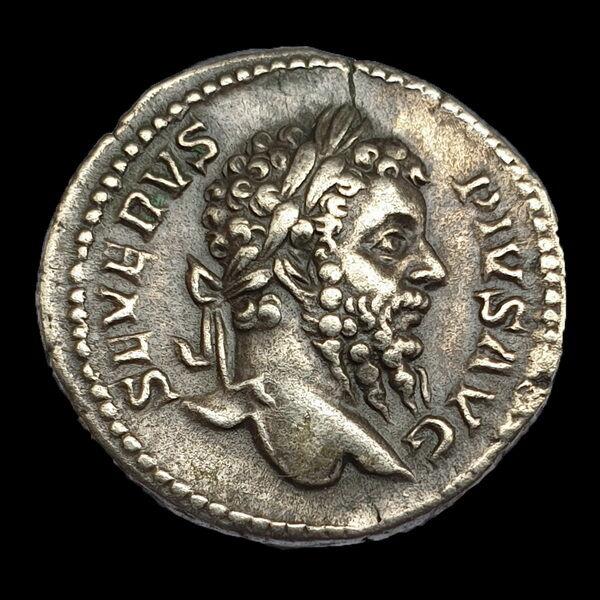 Római ezüst érme - Septimius Severus ezüst denár