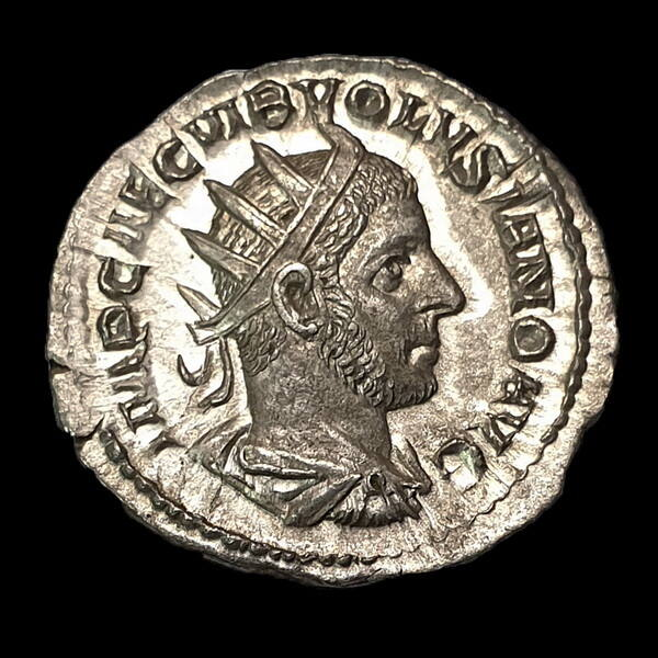 Római ezüst érme - Volusianus ezüst antoninianus