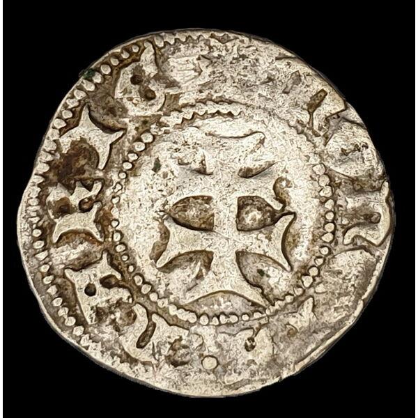 Mária magyar királynő (1382-1387) ezüst denár