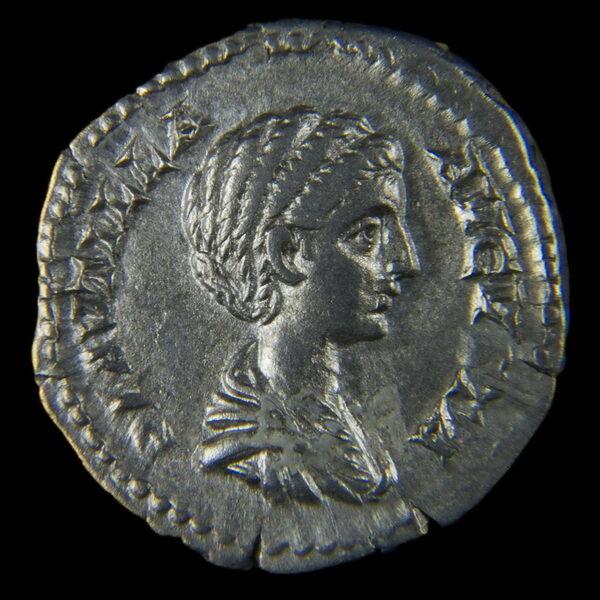 Római ezüst érme - Plautilla ezüst denár