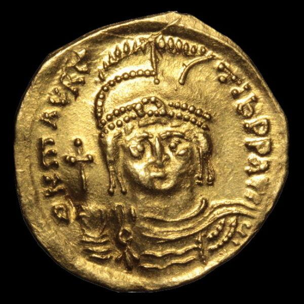 Maurice Tiberius bizánci császár (Kr. u. 582-602) - Arany solidus