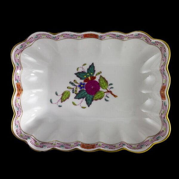 Herendi porcelán Apponyi multicolor mintás tálka