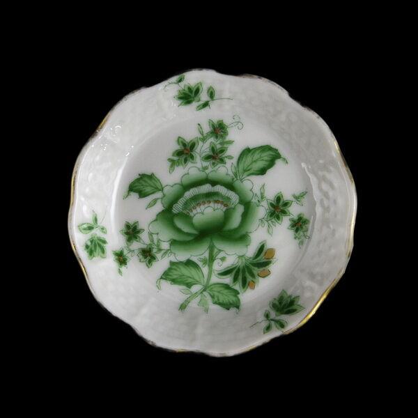 Herendi porcelán zöld Nanking mintás kistálka