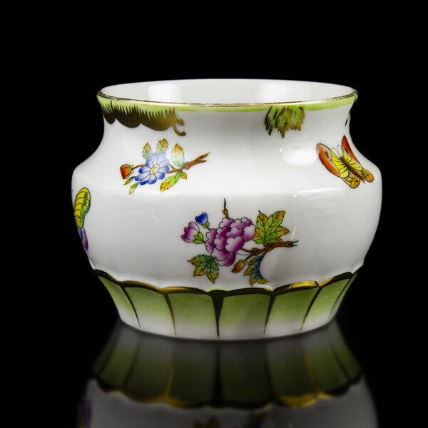 Herendi Viktória mintás porcelán váza/kaspó