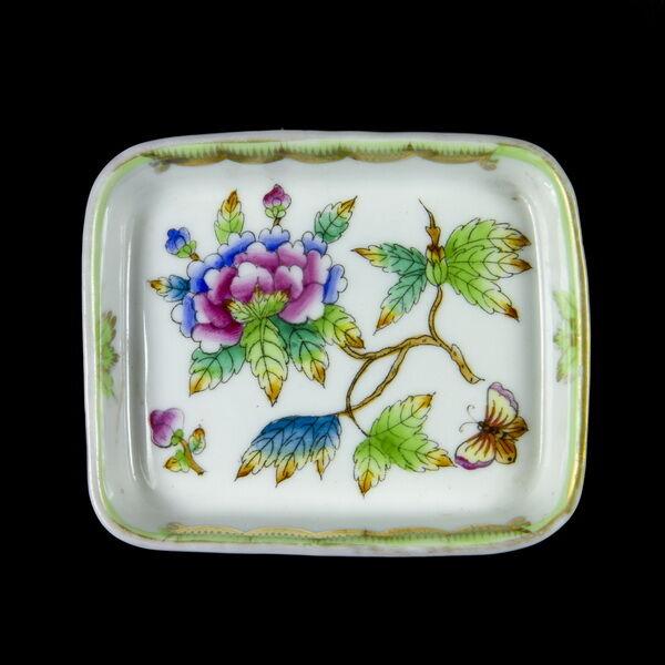 Herendi porcelán Viktória mintás tálka