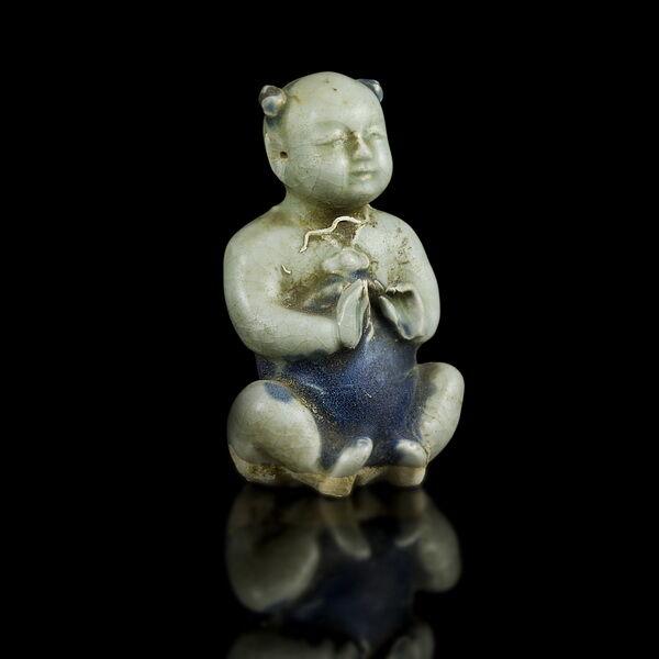 Kínai mázas porcelán figura