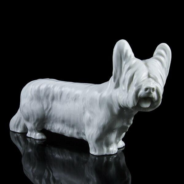 Meisseni art deco kutya figura