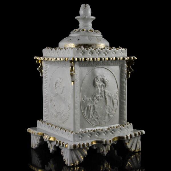 Porcelán litofán, lámpás, mécsestartó edény