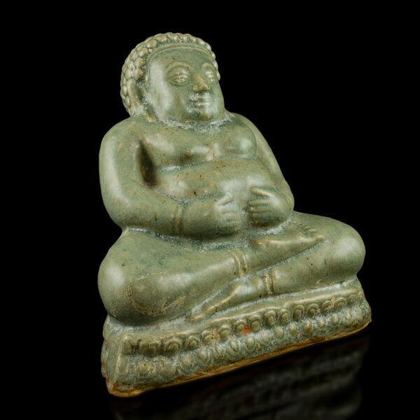 Szeladon mázas ülő Buddha