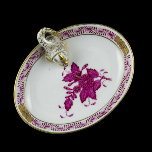 Herendi porcelán Apponyi mintás halas tálka